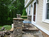Custom Stone Masonry Stairway and Entrance In Progress