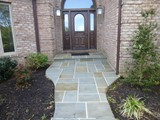 Flagstone Walkway and Entrance Stoop