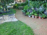 Mixed Masonry Patio Exterior Koi Ponds and Natural Stone Walls