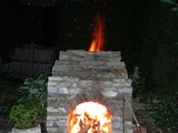 Patio Stone Fireplace 2