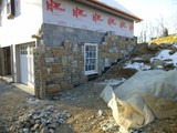 Stone Veneer In Progress